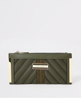 river-island-river-island-quilted-fold-out-purse-khaki