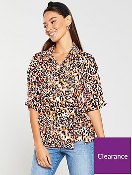 v-by-very-tie-side-wrap-blouse-animal
