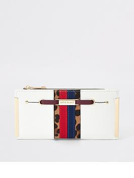 river-island-river-island-leopard-panel-metal-corner-purse-white