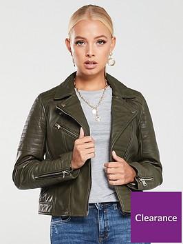 river-island-river-island-premium-leather-jacket-khaki