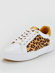 dune-london-ellenie-s-mix-material-bumper-unit-sport-trainers-yellowwhite