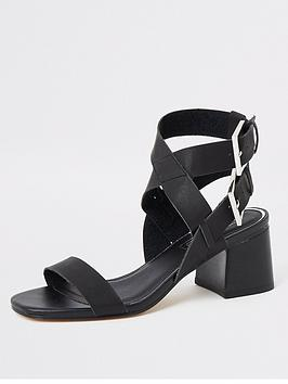 river-island-river-island-buckle-two-part-sandals-black