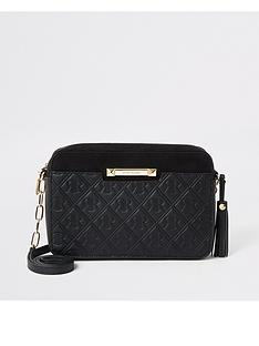 river-island-river-island-monogram-cross-body-bag-black