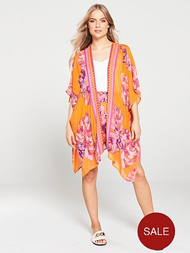 river-island-river-island-printed-embellished-kaftan-orange