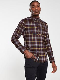 river-island-red-slim-fit-check-print-long-sleeve-shirt
