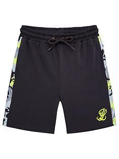 illusive-london-boys-neon-jersey-shorts-grey