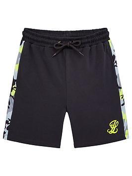 Illusive London Illusive London Boys Neon Jersey Shorts - Grey Picture