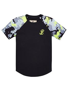 Illusive London Boys Neon Raglan T-Shirt - Grey