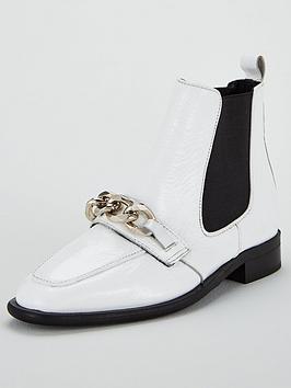 office-arcade-chain-boot-white