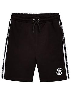illusive-london-boys-taped-jersey-shorts-black