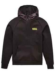 rascal-childrens-house-camo-half-zip-hoodie-black