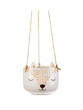 Sass & Belle Sass & Belle Woodland Fox Hanging Planter Picture