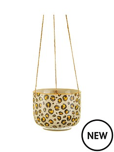 sass-belle-leopard-love-hanging-planter