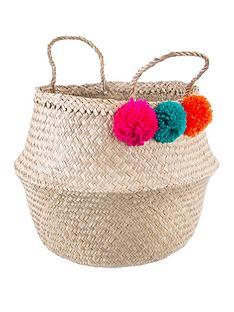 sass-belle-summer-pom-pom-storage-basket