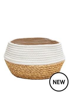 sass-belle-white-dip-rope-grass-basket