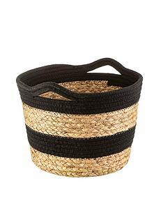 sass-belle-black-stripe-storage-basket