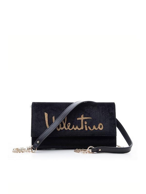 Marimba Velvet Clutch Bag Black