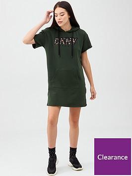 dkny-sport-cropped-short-sleeve-sneaker-dress-w-leopard-logo-applique-khaki