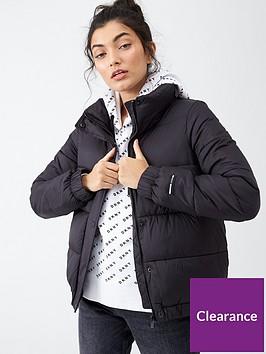 dkny-sport-logo-padded-jacket-black