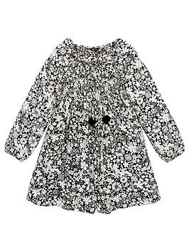 V by Very V By Very Girls Shirred Square Neck Smock Dress - Black Picture