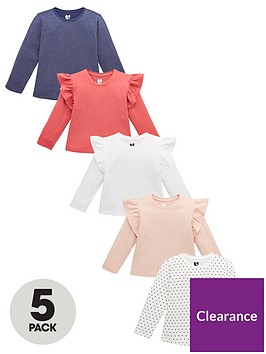 v-by-very-girls-5-pack-frill-shoulder-star-long-sleeve-tees-multi