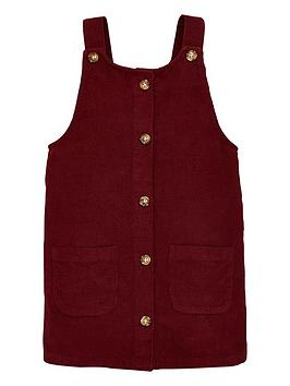 V by Very V By Very Girls Cord Pinafore - Burgundy Picture