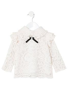 river-island-mini-mini-girls-lace-bow-collar-top-pink