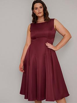 Chi Chi London Curve Chi Chi London Curve Guli Midi Dress - Burgundy Picture
