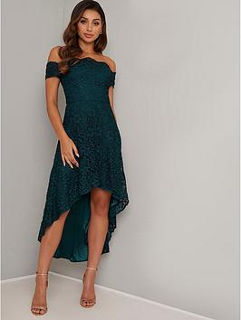 chi chi london Chi Chi London Chi Chi Pen Lace Top High Low Midi Dress Picture
