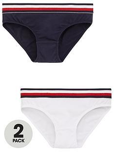 tommy-hilfiger-girls-2-pack-bikini-briefs-whitenavy