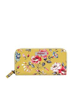 cath-kidston-pembroke-rose-continental-small-zip-wallet-yellow