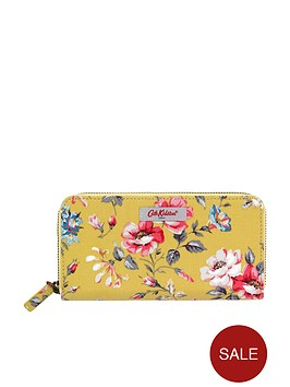 cath-kidston-pembroke-rose-continental-small-zip-wallet-yellow