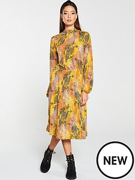 v-by-very-animal-print-high-neck-jersey-dress-multi