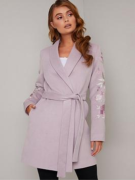chi chi london  Chi Chi London Florrie Coat - Lilac