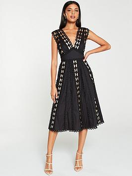 V by Very V By Very Lace Trim Prom Dress - Black Picture