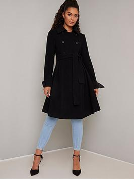 chi chi london  Chi Chi London Safia Coat - Black