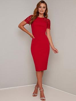 chi-chi-london-mariala-dress-red