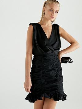 river-island-river-island-taffeta-bodycon-dress-black