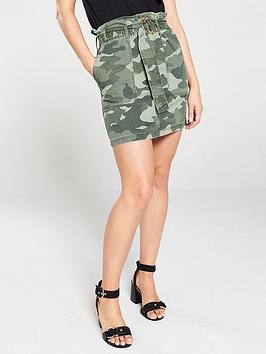 river-island-river-island-camo-paperbag-bag-waist-mini-skirt-khaki