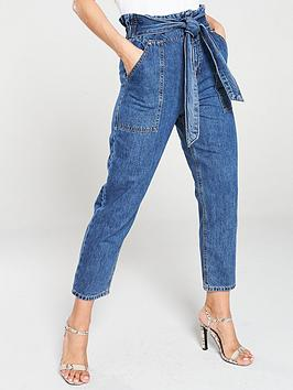 river-island-river-island-paperbag-waist-jean-mid-auth