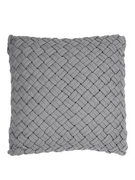 DKNY Dkny Chunky Knit Cushion In Grey Picture