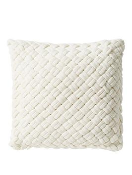 DKNY Dkny Chunky Knit Cushion In White Picture