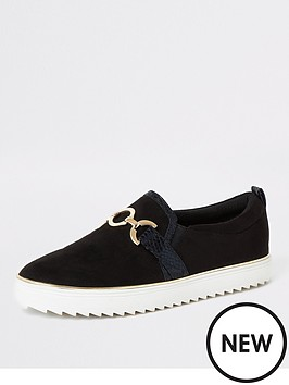 river-island-river-island-snaffle-front-slip-on-trainers-black