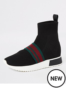 river-island-river-island-knitted-high-top-sock-trainers-black