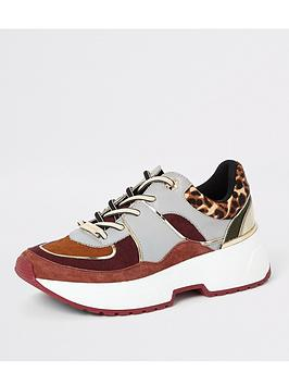 river-island-river-island-leopard-print-suede-mix-trainers-tan