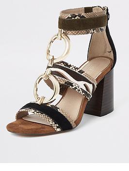 river-island-river-island-leather-animal-print-block-heel-sandals-brown