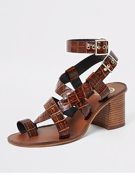 river-island-river-island-leather-toe-ring-block-heel-sandals-brown