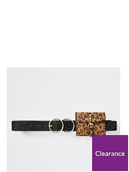 river-island-ponyskin-purse-belt-black