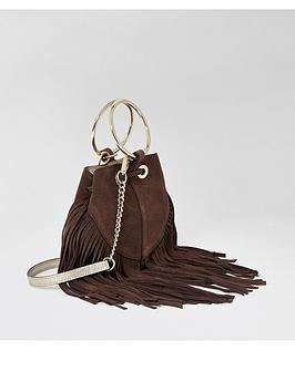 river-island-river-island-leather-fringed-mini-bucket-bag-chocolate