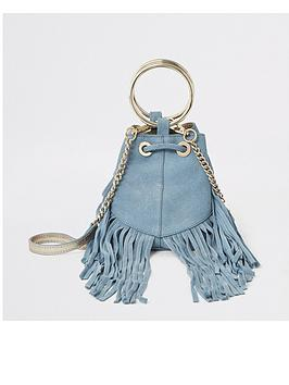 river-island-river-island-leather-fringed-mini-bucket-bag-light-blue
